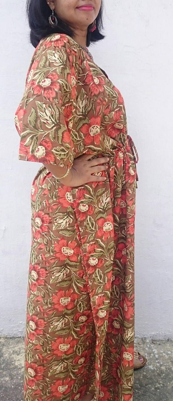 Long Floral Kaftan Caftan cotton caftan cotton kaftan