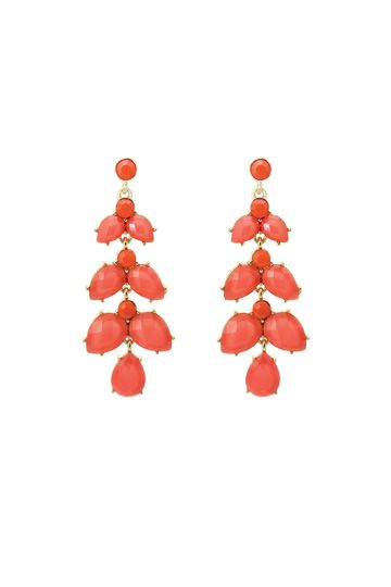 and matching earrings  Coral Cascading Drop Earrings