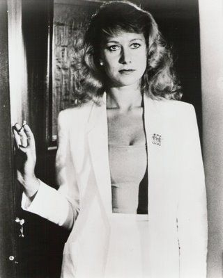 Not just fella's in the gangsta style groove either.....here is a very femme fatale Helen Mirren from the Long Good Friday xo