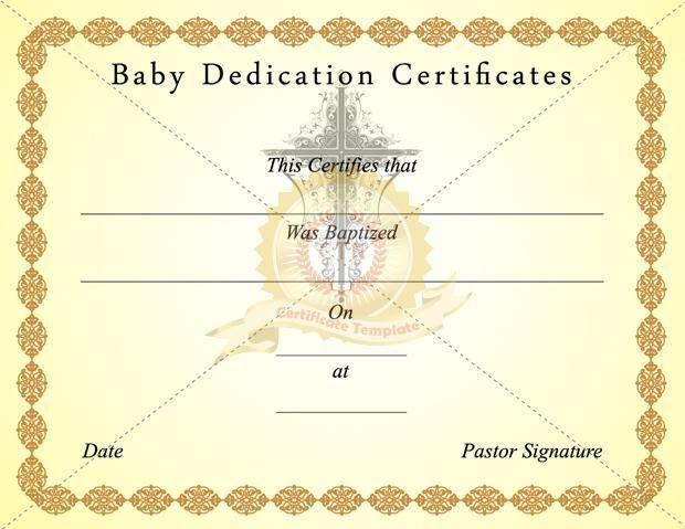 18 Baby Dedication Certificate Template Free Download Baby Dedication Certificate Birth Certificate Template Baby Dedication