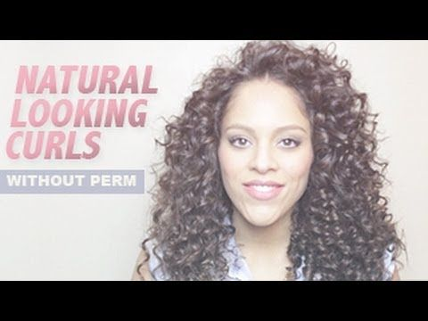 ▶ Natural looking curls without perm - YouTube. Oh my goooooosh! I need a curling wand!!!! Haha. This would take hours but it's gorgeous and I can never get my hair to curl.