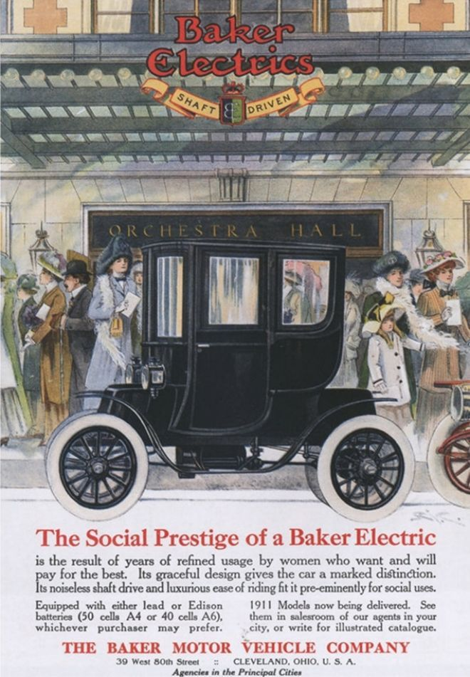 Best Baker Electric Car Ads Images On Pinterest Motor Car