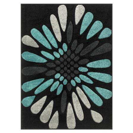 Alfombra Blossom de Oriental Weavers, gris marengo y verde azulado