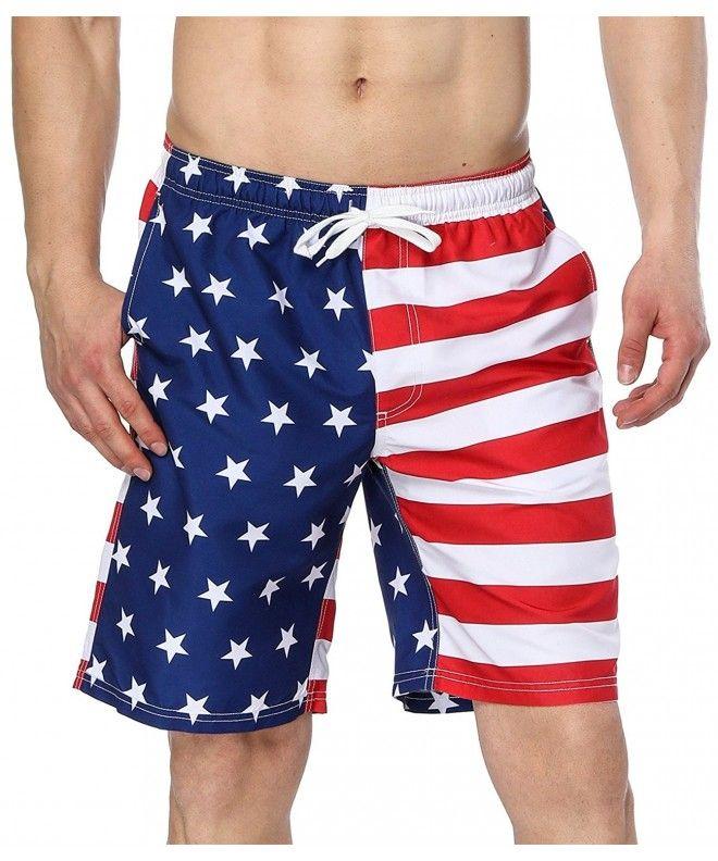 Men S Swim Trunks Usa American Flag Beach Board Shorts American Flag2 C7180rmk85u Swim Trunks Man Swimming Mens Swim Trunks