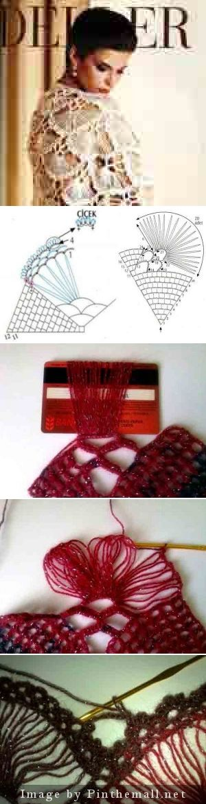 """#Crochet #Tutorial for a gorgeous hairpin lace and crochet shawl. Text is in Russian, but the diagrams are clear. #KnittingGuru http://www.pinterest.com/KnittingGuru"""""""