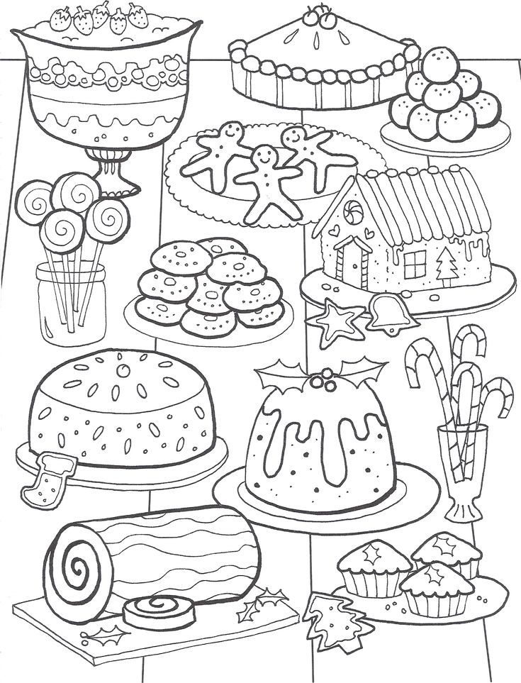 47 best christmas coloring pages images on pinterest for Coloring pages food