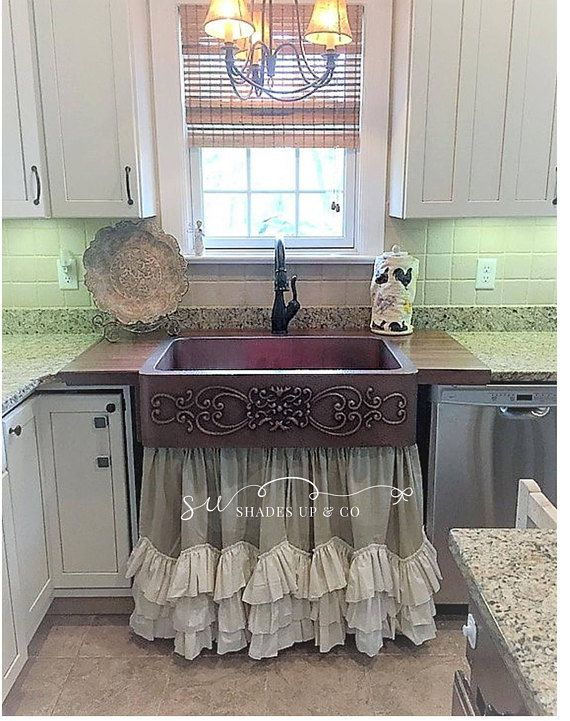 Panels Curtains Under Sink Ruffled Curtains Farmhouse Shabby