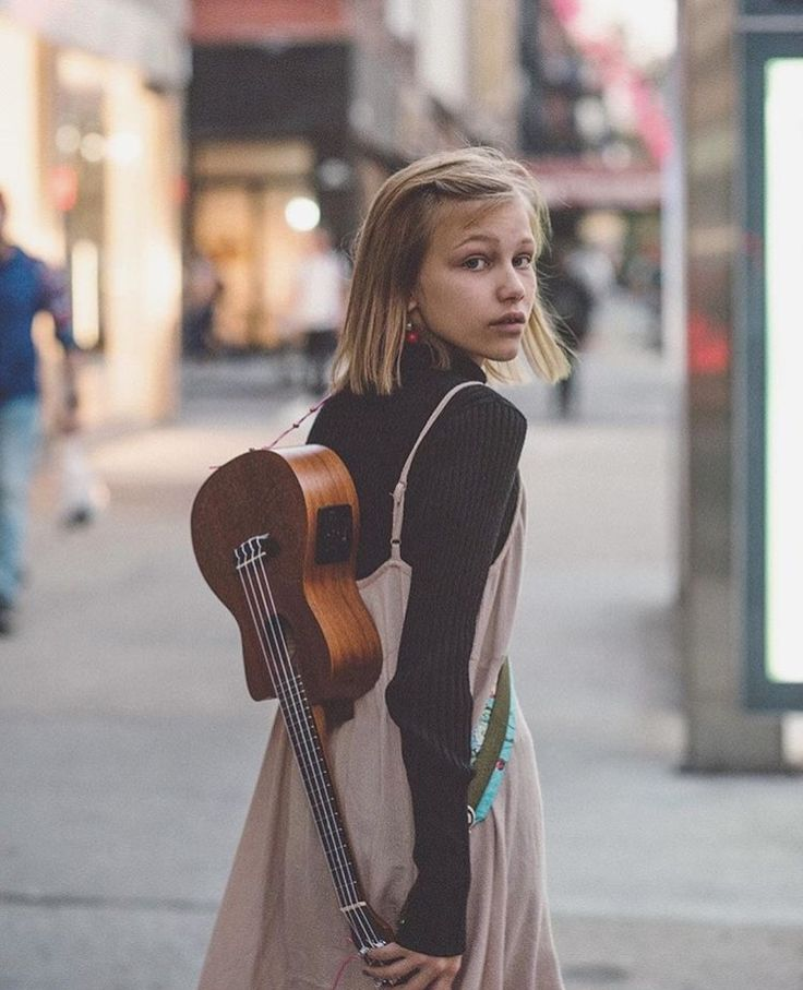Dress, turtleneck on Grace Vanderwaal