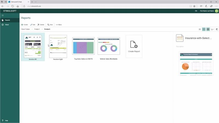 Cloud Reporting Tools: Display Mode of Items in Stimulsoft Cloud