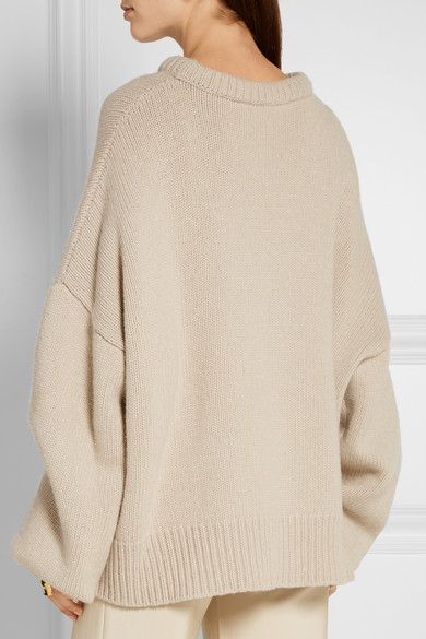 Mushroom wool and cashmere-blend Slips on 65% wool, 35% cashmere Dry