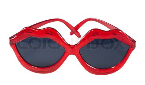 Glasses Shaped Photo Frame : Sunglasses with red lip shaped frame Cool Sunglasses ...