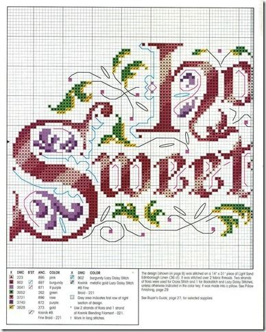 Porcupine Design: Home Sweet Home - free cross stitch pattern link