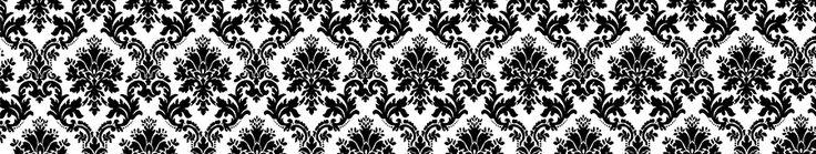Скинали - Черно-белый узор для фартука