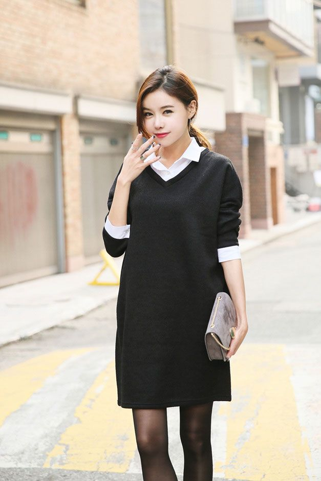 Fleece Lined Shirt Dress