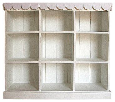More Shelf Fun! Bradshaw Kirchofer Cottage Book and Toy Shelf traditional toy storage