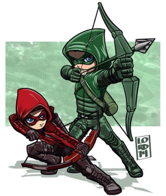 Red & Green Arrow