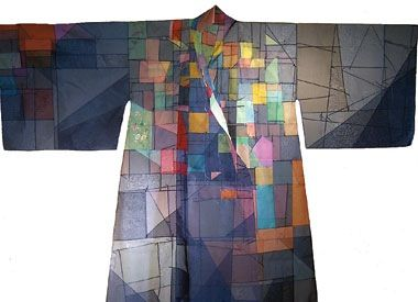 BLUE DURUMAGI patchwork bojagi by Chunghie Lee.