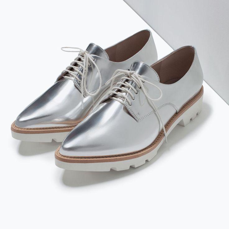 7466aad648b Zapatos Zara Zapatos Blucher Blucher Mujer Mujer wB0EqH