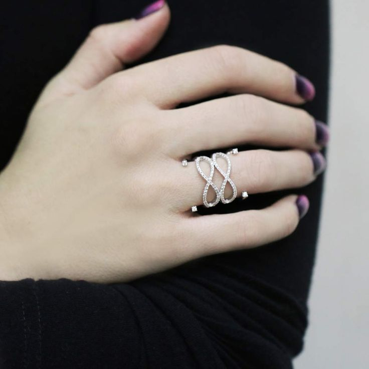 """Sixteen"" Diamond Multi Band Ring"