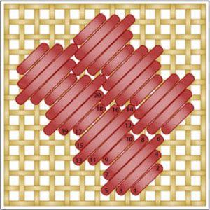 The Diagonal Hexagonal Stitch: Working the Diagonal Hexagonal Stitch