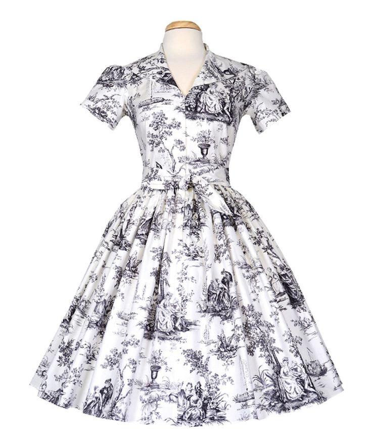 Take a look at this Bernie Dexter Black & White Toile Laure Dress - Plus Too today!