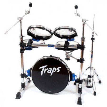 Traps Drums Portable Acoustic Drum Set, Black