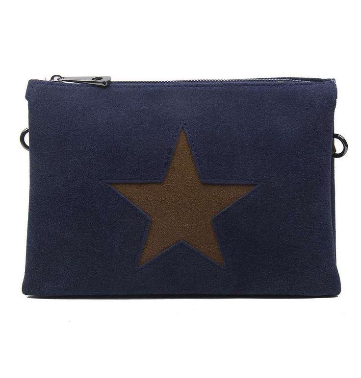 DAMEN TRIO CLUTCH STERN ABEND-HAND-TASCHE Schultertasche Cross-Bag Leder Optik: … – Italyshop24.com