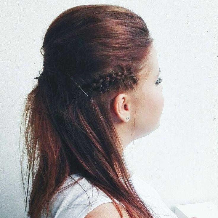#partyhair #dutchbraid #hairstyle #hotd