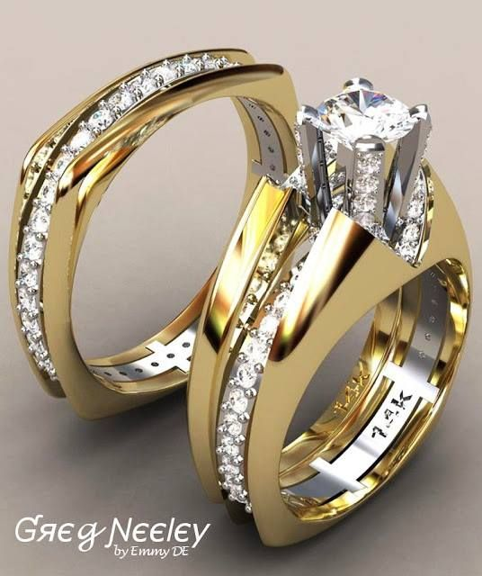 Engagement Ring Multi Stone For Bride And Groom