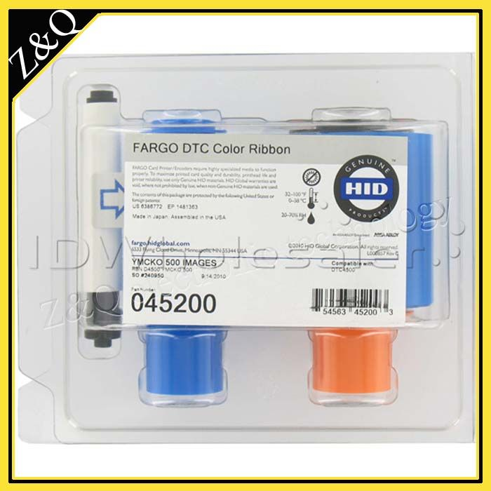HID Fargo DTC4500 пластиковая карта лента принтера 45200 YMCKO цветная лента для использования с Fargo DTC4500 карточных принтеров