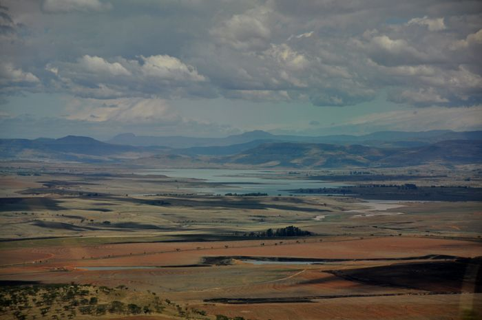 A view over the valley from the escarpment near Sterkfontein Dam, Free State, South Africa by Anita Cruywagen Photography