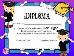 Resultado de imagen de pinterest diploma de graduacion de infantil