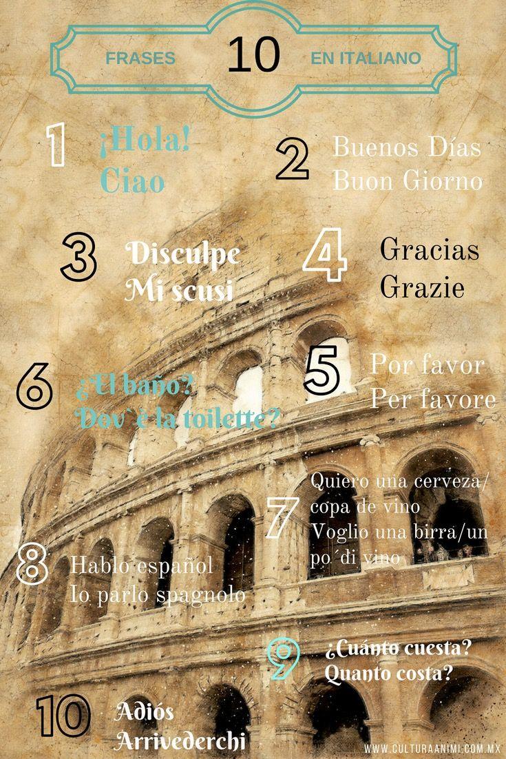 Frases En Italiano Para Viajes Italia Viajes Travel Rome