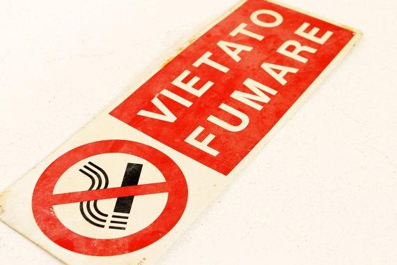 Vintage industrial metal sign  vietato fumare by AnnaLouVintage, $28.99