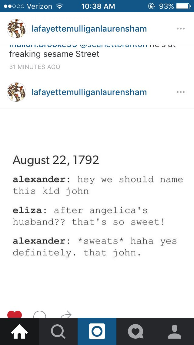 Wow, real smooth Hamilton. John Laurens will forever be his guy crush