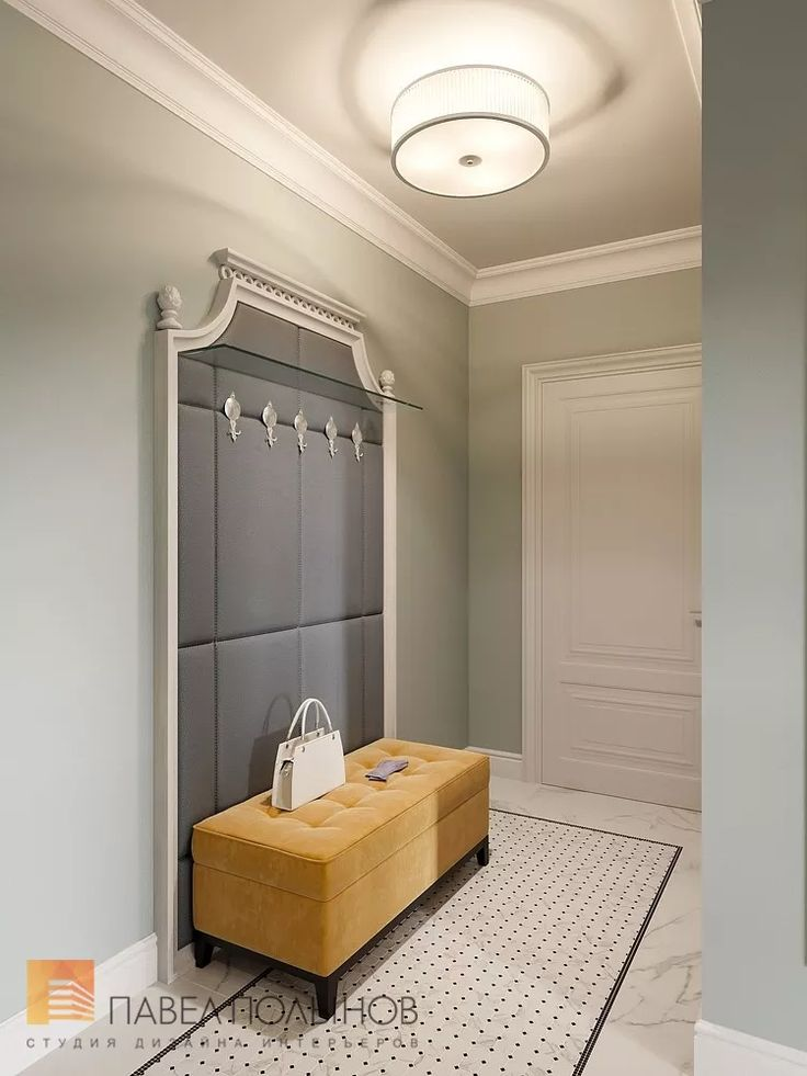 Фото: Прихожая - Квартира в стиле американской неоклассики, ЖК «Академ-Парк», 107 кв.м.