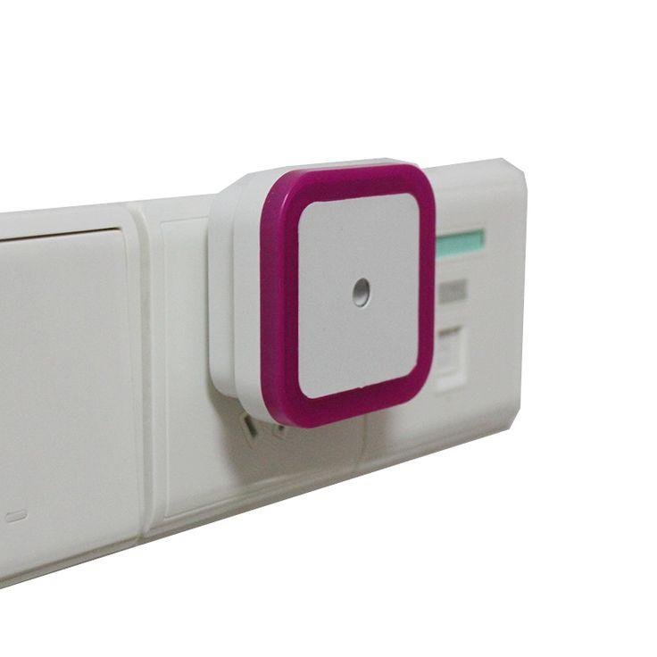 США ЕС Мини СВЕТОДИОДНЫЙ 0.5 Вт Night Light Control Auto Датчик Детские спальня Лампы квадратный Белый желтый AC110-220V СВЕТОДИОДНЫЙ ночник для ребенка