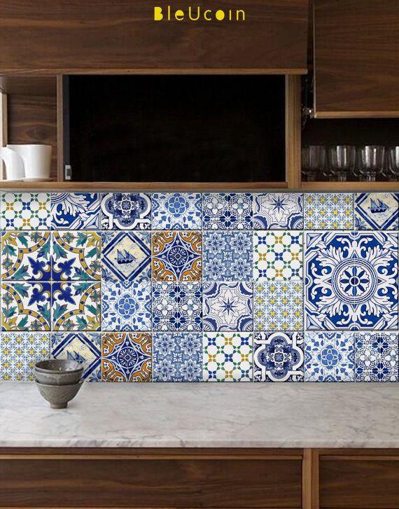 Carrelage autocollant: portugais de style cuisine / salle de