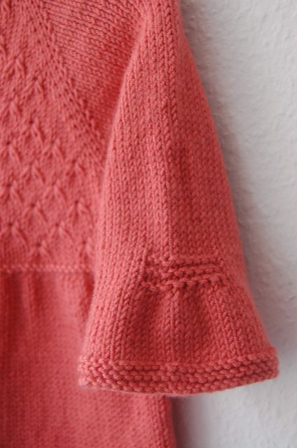 Ravelry: frogginette's Little Broderie cardigan. Nice inspiration photo, personal pattern not in Ravelry