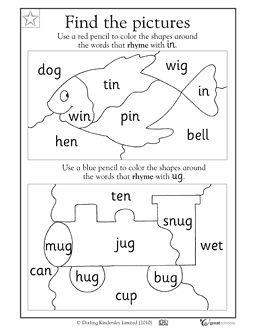 95 best Rhymes images on Pinterest Rhyming activities Rhyming