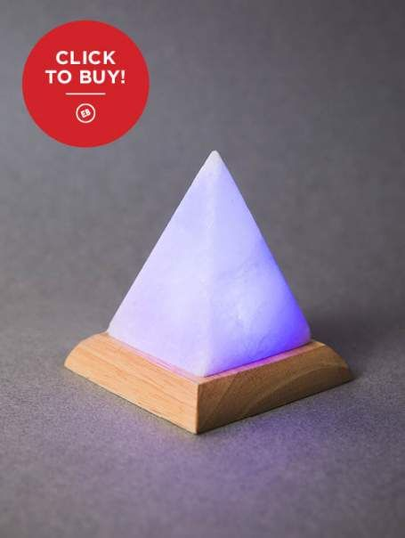 Color Changing, USB Powered Himalayan Salt Lamp! Such a cool gift and perfect for a desk ...
