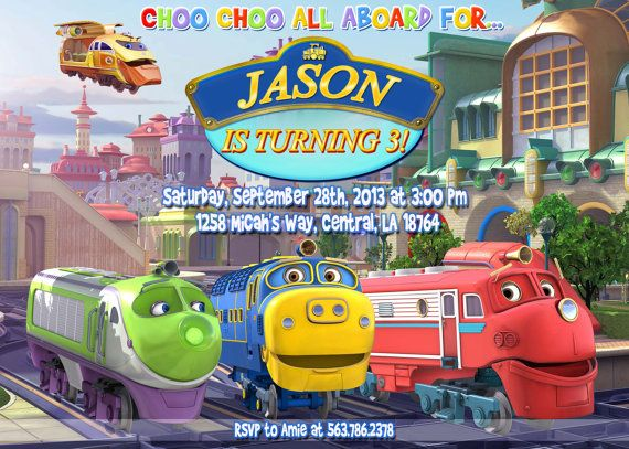 26 best images about Chuggington Birthday – Chuggington Party Invitations