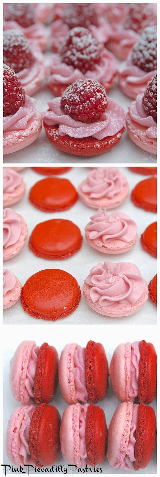 Pink Piccadilly Pastries: Raspberry Macaron Petits Fours