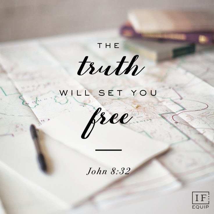 "Read John 8:31-35 So Jesus said to the Jews who had believed him, ""If you abide in my word, you are truly my disciples, and you will know the truth, and the truth will set you free."" They answered …"