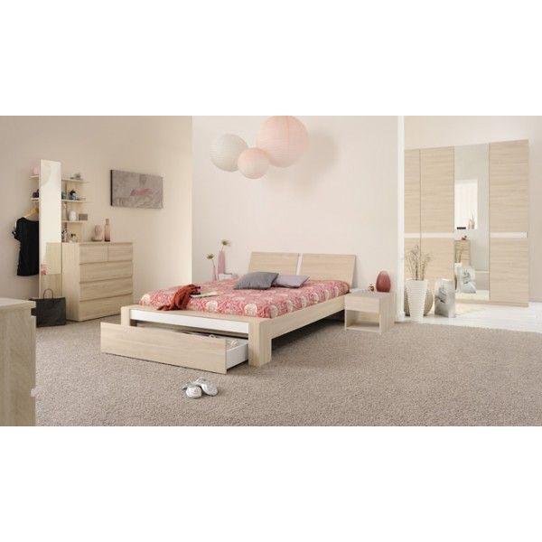 Parisot Mallow Sesame Oak Double Bedroom Furniture Set