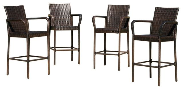 Catchy Outdoor Wicker Bar Stool with Stewart Outdoor Bar Stools Set Of 4 Contemporary Outdoor Bar