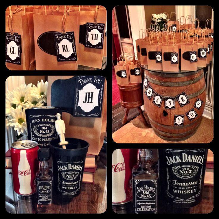 Jack Daniel S Birthday Favor Bags Jack Daniel S Birthday