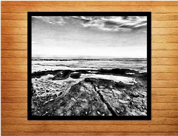 Black and white print digital download printable wall art. Made by Gia - $10.00 #blackandwhitephotos #blackandwhitephotography #oceanphotography #wallart #homedecor #made_by_gia #madebygia
