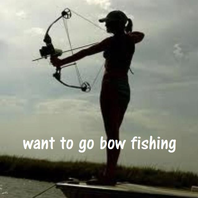 bucket list - want to go bow fishing