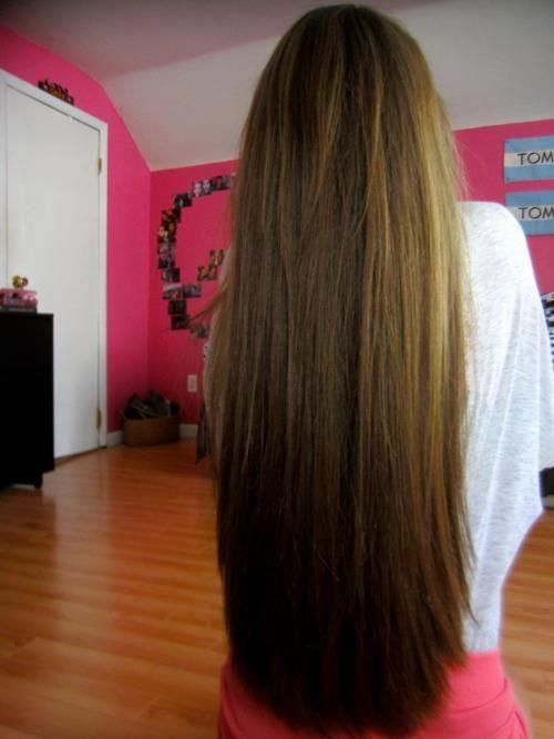 long straight layers - hairstyles
